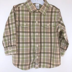 Janie and Jack Plaid Shirt Size 18 to 24 Months